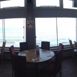 Panorama view of the restaurant at Quayside