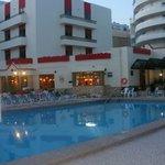 hotel,pool area,