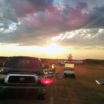 Beautiful sunset at The iron Horse Campground, Sturgis, SD