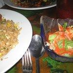 hibachi dinner and salad