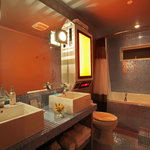The Glow-in-the-Dark-Tile Bathroom in the Final Frontier Suite