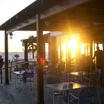 Sunset through the Pool Bar