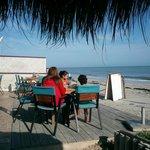 Breakfast on the beach...