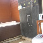 Nice shower and bathtub