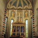 Above main altar.