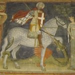 St George slaying the dragon.