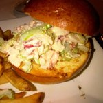 Course 2 - lobster salad in broiche bun