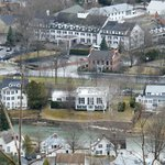 Woodstock Inn in the background from the top of MT. Tom