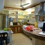 Kitchen area, freshly stocked
