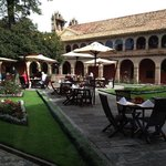 Courtyard of the Monasterio Hotel in Cusco
