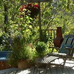 Enjoy our back deck and hot tub area
