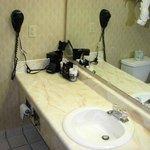 The bathroom vanity