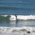 Surfer got up