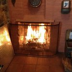 Wonderful fire in the Chimney Cottage