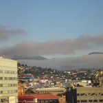View over Hobart city from the room