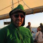Enjoying the Schooner Freda B at Sunset