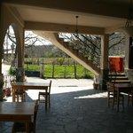 Outdoors breakfast area