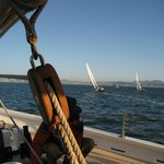 Sails in San Francisco Bay from the Schooner Freda B