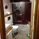 Bathroom with huge walk in shower