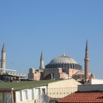 View to Hagia Sophia from the rooftop terrace