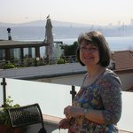 View of the Bosphorus from the rooftop terrace