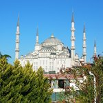 View of the Blue Mosque from the rooftop terrace