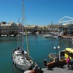 vue sur le port depuis le restaurant
