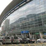View of Busan station from breakfast area