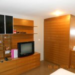 Big cupboards and TV