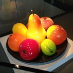 Glass Fruit on display at Corning Museum
