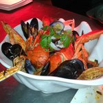 El mitico Linguine San Marco, con astice,scampi,cicale e frutti di mare.....Impresionante.