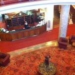 Stylish hotel lobby