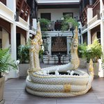 Courtyard with snake fountain