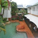 Coral Tree Inn view over pool
