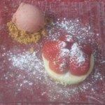 tartelette fraise-chocolat blanc sorbet fraise sichuan
