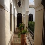 On the first floor of the Riad