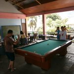second floor billiard and videoke area