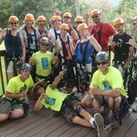 Jordan, Koa, Wes and Chris our AWESOME Maui Zipline Guides with our crew..