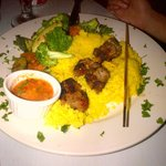 Lamb kebab with couscous