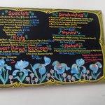 Artistic chalkboard menu