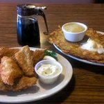 Friday fish fry. Great potato pancakes!