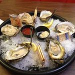 delicious oysters at happy hour