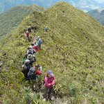Hiking the round trip of Cajanuma at around 3300 m a.s.l.