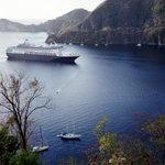 Cruise ship entering Soufriere