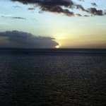 Caribbean sunset from Soufriere