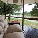 View from the River rooms (Fish eagle and Fishing owl)