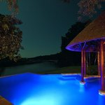 Enkoveni's pool by night