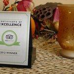 TripAdvisor Award Winner