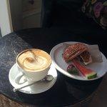 Latte and Samuel's Breakfast Bun