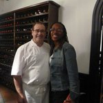 Chef Hilario Arbelaitz and me after I finished his masterful creations
